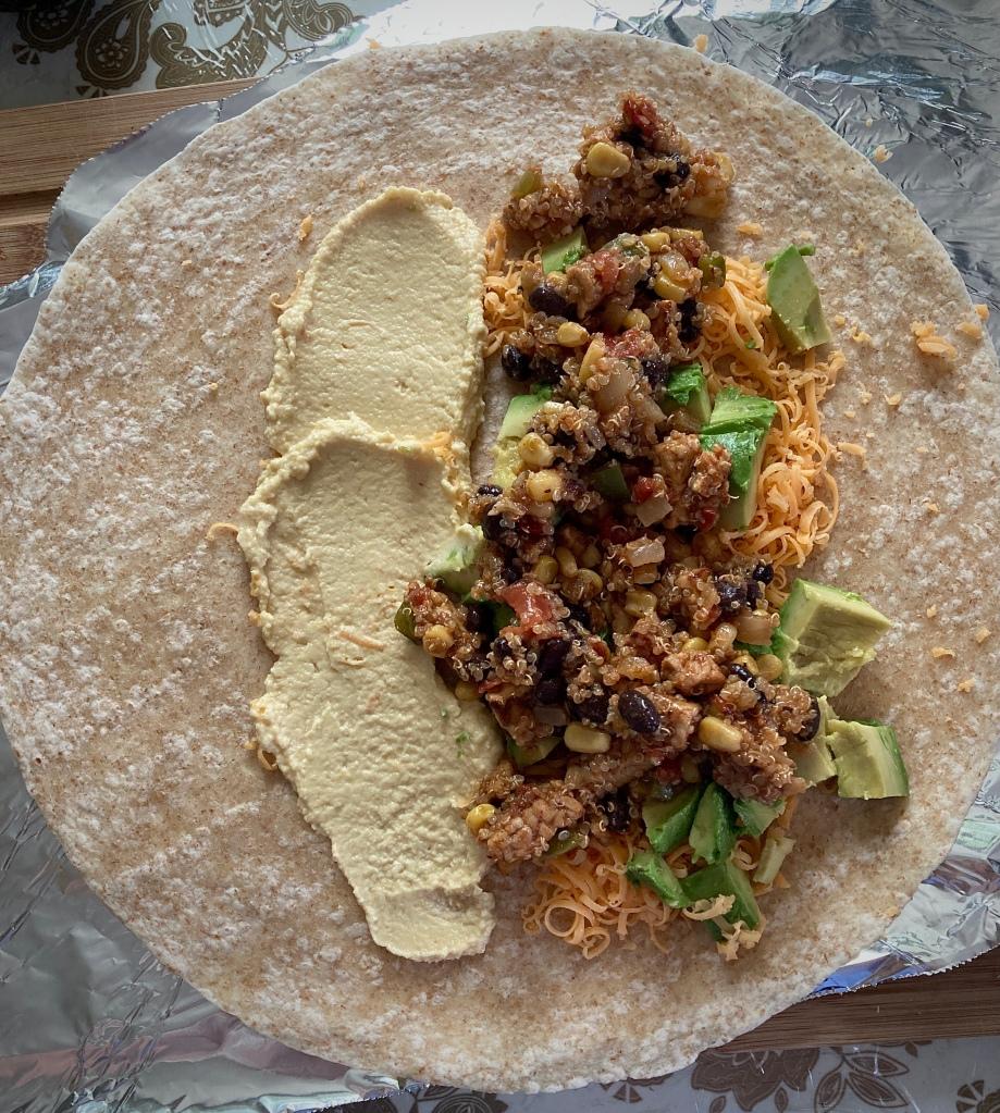 Burritos végétariens au tempeh et au quinoa